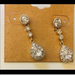 Crystal teardrop dangle earrings